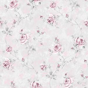 Details Zu Rg35738 Rose Garden Rosen Blumen Grau Rosa Galerie Tapete