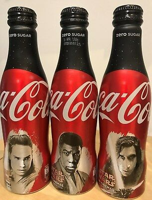 Coca Cola Uk Star Wars 3 Limited Edition Aluminium Bottles
