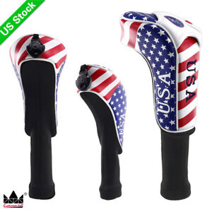 USA-Flag-Golf-Driver-Fairway-Wood-Hybrid-UT-Head-Cover-for-Taylormade-Cobra-PING