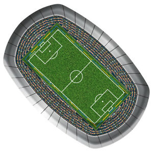FOOTBALL-PITCH-PARTY-23CM-PAPER-SERVING-PLATE-X-8