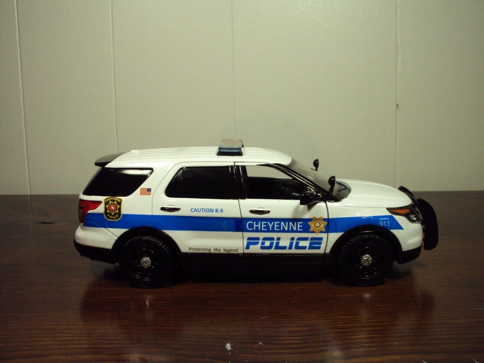 Cheyenne Wyoming POLIZIA K9 unità Motormax 1 24 SCALA FORD EXPLORER