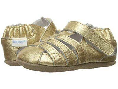 NIB Robeez Shoes Mini Shoez Paris Gold