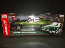 Auto World Plymouth Satellite Sebring Plus 1971 Green 1/18
