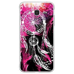 Coque-Housse-Etui-Samsung-Galaxy-J3-2016-silicone-gel-motif-Dreamcatcher-Rose