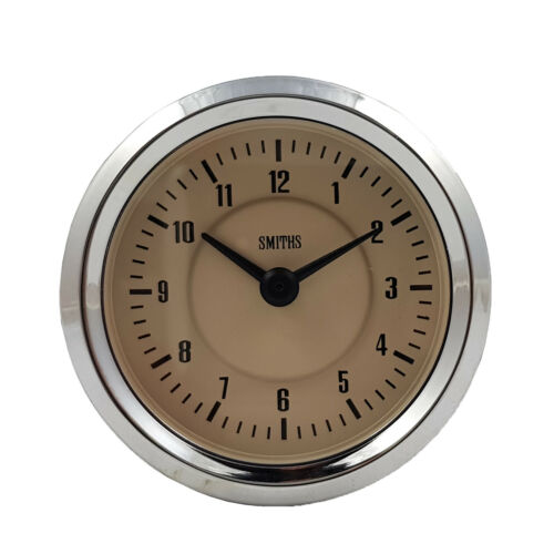 Smiths Time Clock Gauge 60mm in Magnolia For Classic Cars GAE128//60MG