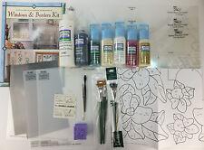 Art Glass Windows & Borders Kit by Carol Smith & Donna Dewberry One Stroke