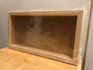 Shadow Box Frame 85 X 16 Darice Plastic Front Unfinished Wood