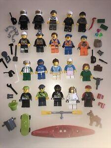 LEGO Minifigura Città 20 persone + tonnellate di accessori-LOTTO AA