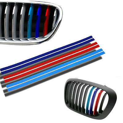 Latest Grille Kidney M Sport Stripe 3 Color Decal Vinyl Sticker for BMW All