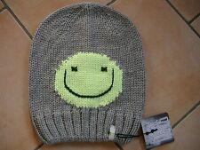 (M61) Grobstrick Mütze FREAKY HEADS Beanie Wintermütze Happy Face mit Logo Flag