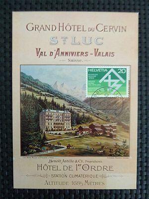 Luc Grand Hotel Cervin Maximumkarte Carte Maximum Card Mc C5325 Fortgeschrittene Technologie üBernehmen Klug Schweiz Mk St Briefmarken Maximumkarten