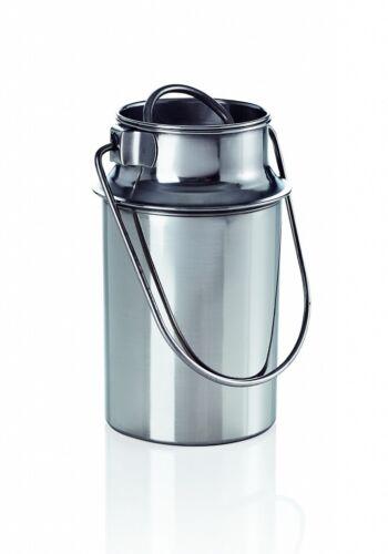 Transportkanne 1,5 L Liter Edelstahl Milchkanne Milchkrug mit Deckel
