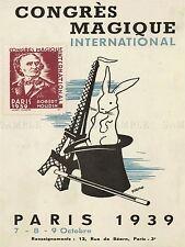 AD VINTAGE VENO EVENT 1939 MAGICIAN CONGRESS PARIS ART PRINT POSTER LF227