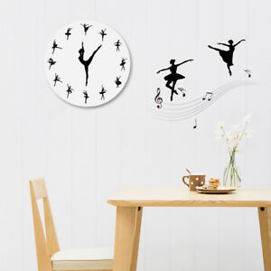 Image Is Loading Charming Ballerina Wall Clock Baby Nursery Decor