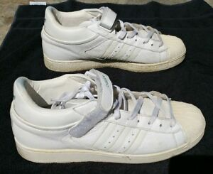 ADIDAS Men's White Leather Strap Lace