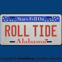 Alabama Roll Tide Ncaa Sec Football Team Vanity License Plate Tag Aluminum
