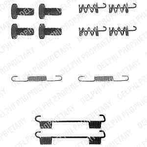 5 YEAR WARRANTY BRAND NEW Delphi Brake Shoe Fitting Kit LY1104 GENUINE