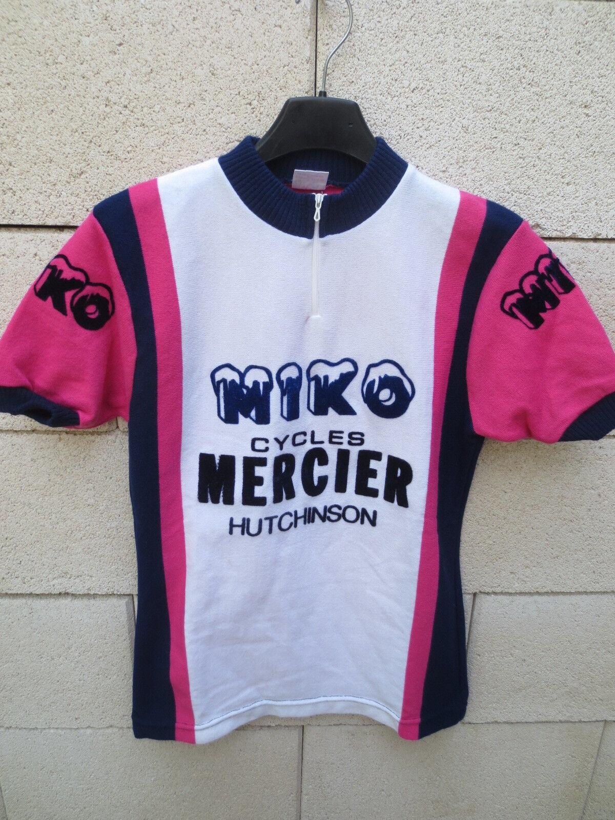 VINTAGE Maillot MERCIER cycliste MIKO MERCIER Maillot HUTCHINSON Tour France 1977 shirt maglia 1 e04672