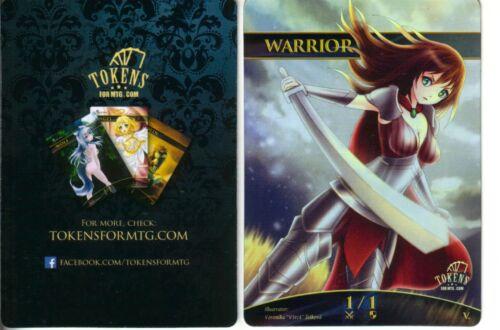 Warrior Token FOILNMaltered Art Promo Tokens for MTGMagic MTG