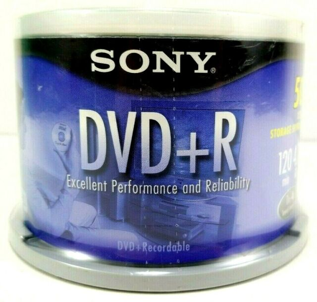 SONY 50 Pack DVD+R Discs 50DPR47LS2 NEW UNOPENED 4.7 GB 120 Minutes