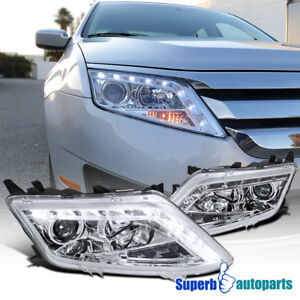 Image Is Loading 2010 2017 Ford Fusion Led Clear Projector Headlights
