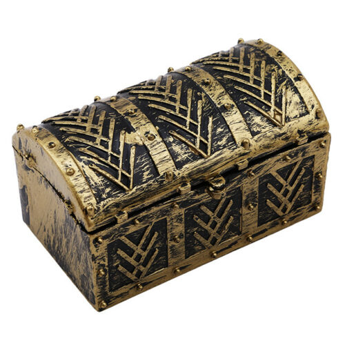 Vintage Pirate Jewelry Model Storage Box Holder Treasure Chest Gift Box Gift SA