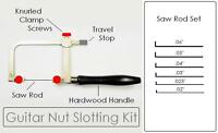 GuitarTechs NUT SLOTTING FILE KIT for Guitar - Saw Rods & Handle Luthier Tool