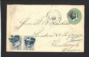 BATON-ROUGE-LOUISIANA-1877-COVER-SENT-TO-034-HAMBURG-GERMANY-034-EUROPE