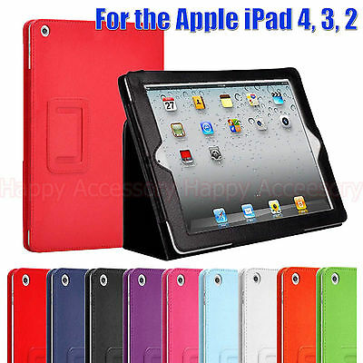 Flip Leather Smart Cover Stand Case Pouch for Apple the New iPad 4, 4G/iPad 3,2