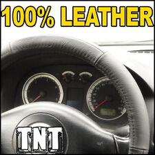 Black LEATHER Steering Wheel Cover - Diameter 39-40 cm - Universal - Glove Fit