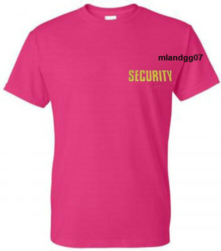 Two sides print  S-5XL SECURITY T-SHIRT Shirt Tee