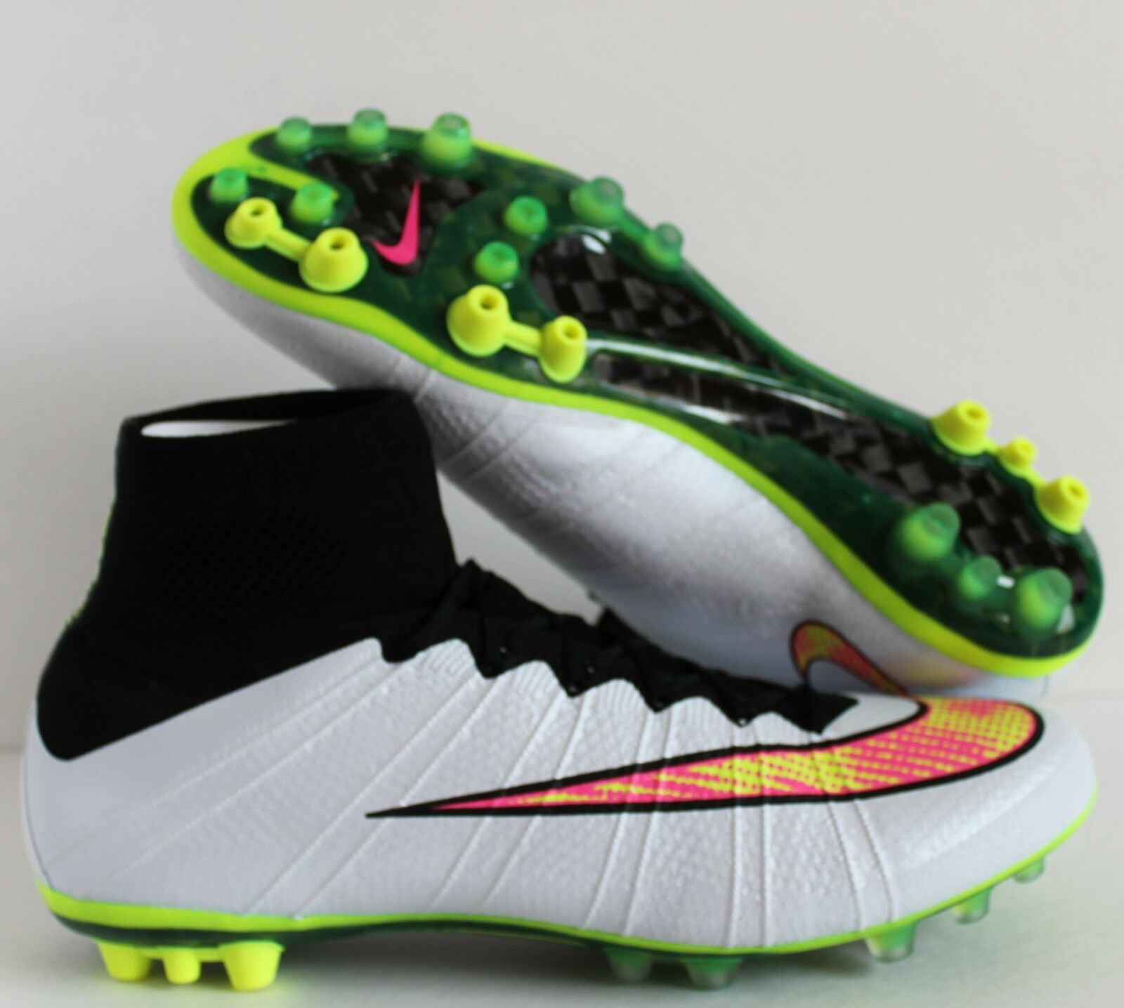 NIKE MERCURIAL SUPERFLY 12 AG-R WHITE-VOLT-BLACK-HYPER PINK SZ 12 SUPERFLY [717138-170] 8daaa5
