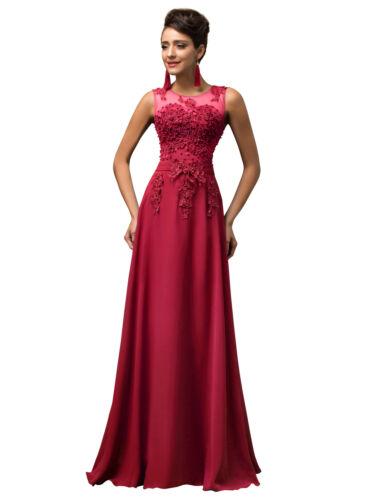 Plus Size 24W Women Sleeveless V-Back Chiffon Ball Gown Evening Prom Party Dress