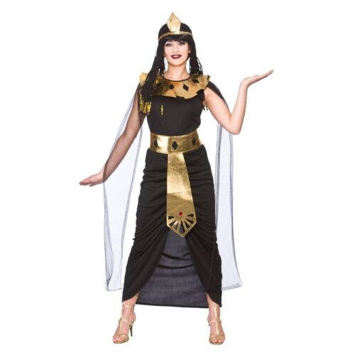 Queen Cleopatra Princess Fancy Dress Costume Outfit Womens Egyptian Nile Black