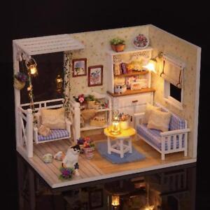 DIY-Miniature-Dollhouse-Kit-Realistic-Mini-3D-Wooden-House-Room-Handmade-K7E7