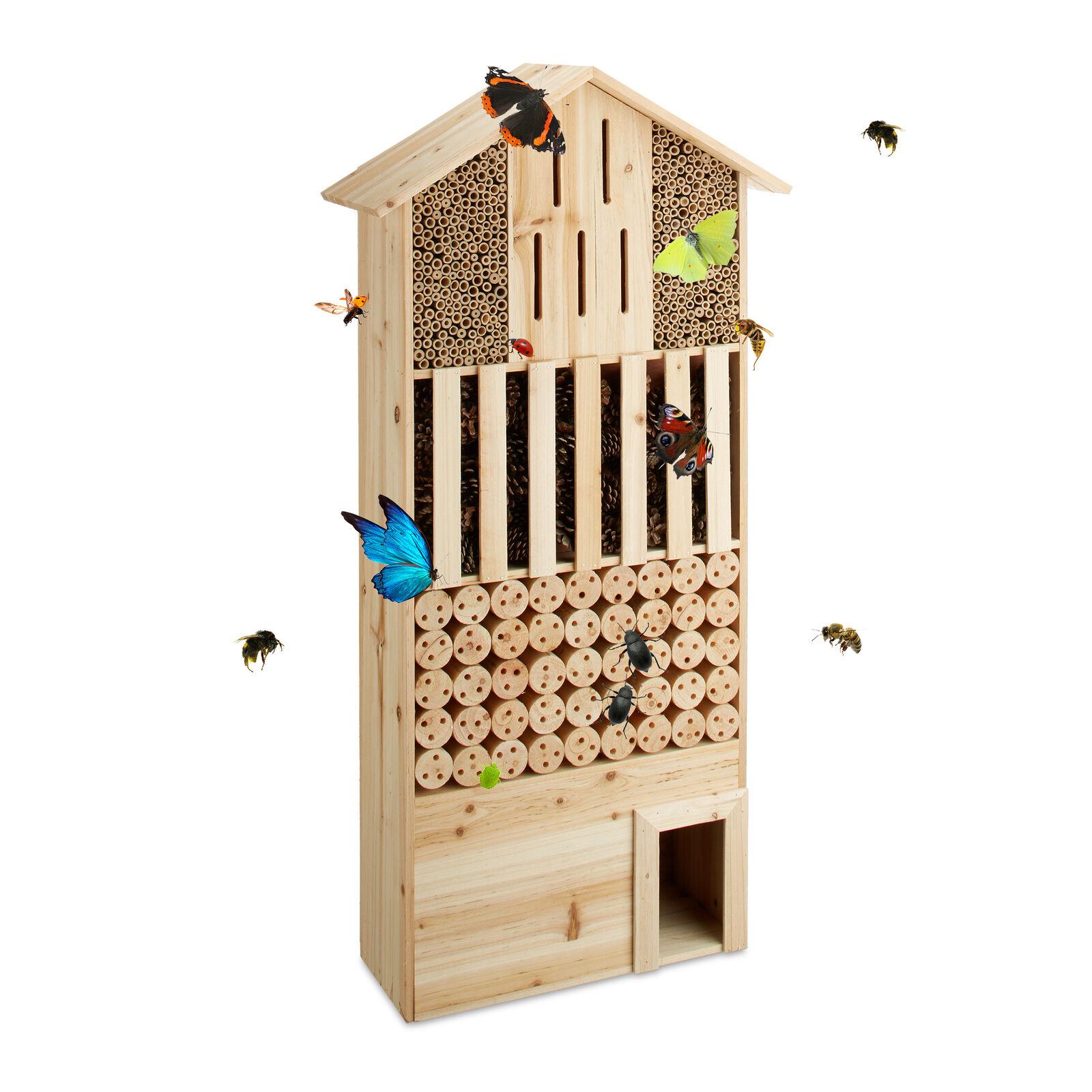 Insektenhotel natur Größe XXL Bienen Schmetterlinge Igelhaus stehend Bienenhotel | Genial Und Praktisch  | Online Outlet Store  | Spezielle Funktion