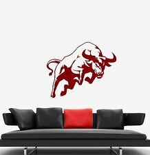 Wall Stickers Red Bull Strength Courage Animal Decor Extreme Vinyl Decal (ed528)