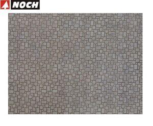 NOCH-H0-56722-3D-Kartonplatte-Mauerplatte-034-Modernes-Pflaster-034-1m-57-28-NEU