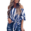 New-Womens-Striped-Loose-Sexy-Off-Shoulder-Blouse-Tops-Baggy-Casual-T-Shirt-Top thumbnail 4