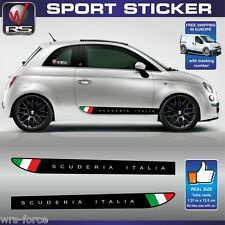 Fiat 500 sticker decal SCUDERIA ITALIA abarth  tuning pegatina aufkleber FI60