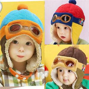 Winter Baby Earflap Toddler Girl Boy Kids Pilot Aviator Cap Warm ... 5acfb4bfb185