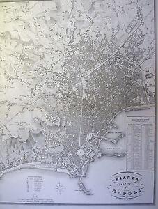 La Cartina Di Napoli.Cartina Citta Di Napoli Vallardi Storica Cartografia Stampa Incisione Antica Ebay
