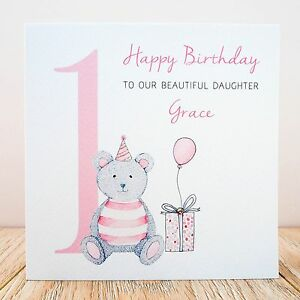 Image Is Loading Handmade Personalised 1st Birthday Card Niece Daughter Granddaughter