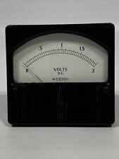 Vintage Weston Dc Volts Vintage Panel Meter Gauge 0 2 Volts Dc