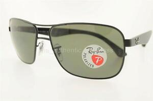 e18acc9bc7 RAY-BAN SUNGLASS RB 3516 0069A 006 9A 62MM MATTE BLACK FRAME POLARIZED GREEN