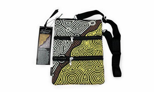 Bag Cross Body Aboriginal Design - Fire Country Dreaming - Theo (Faye) Nangala H