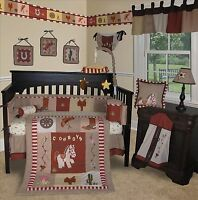 Baby Boutique - Western Cowboy - 13 pcs Crib Nursery Bedding Set