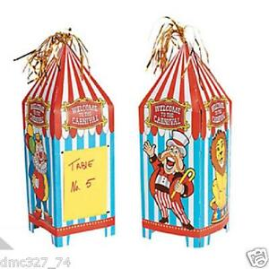 Image is loading CARNIVAL-Big-Top-Tent-CIRCUS-Birthday-Party-Decorations-  sc 1 st  eBay & CARNIVAL Big Top Tent CIRCUS Birthday Party Decorations Table ...