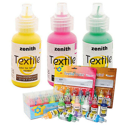 Textile Color Paint for Fabric Opaque Vivid 50 Colors 37ml Deco Art T-Shirt