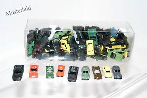 Modellautos-Konvolut-Spur-N-70-Stueck-Pkw-Eisenbahn-Verkaufsdisplay-DDR-RAR-IMU